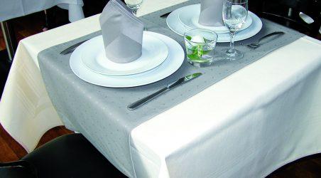 Tischwäsche grau / beige