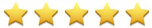Vector modern stars icon set on white
